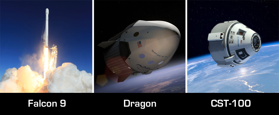 falcon 9 dragon and cst-100