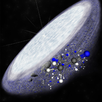 complex organic molecules in young protoplanetary disc