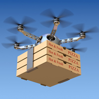 pizza drone delivery gps technology