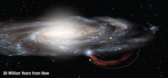 smiths cloud 30 million ad milky way galaxy future timeline